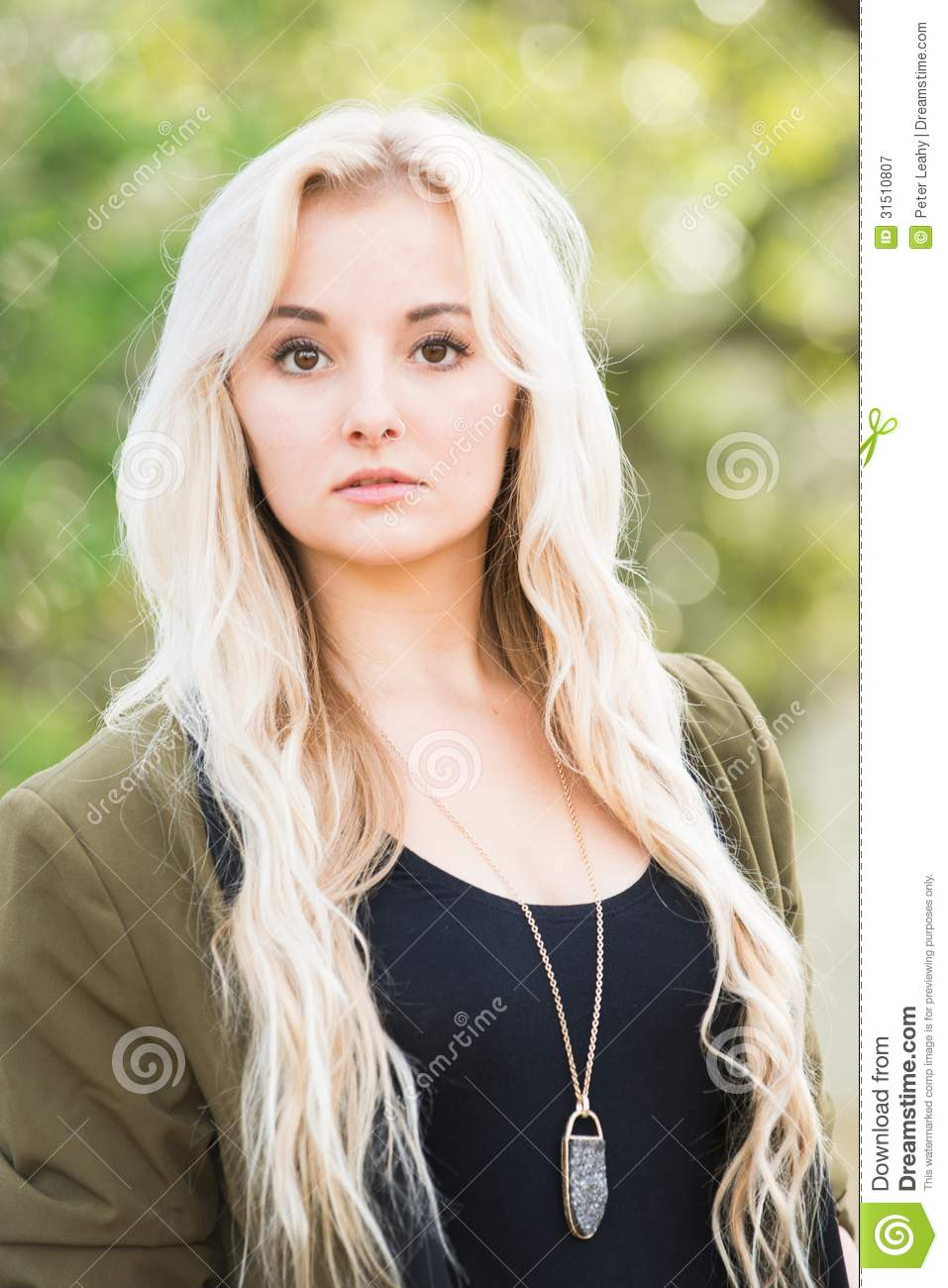 Brown Eyes And Blonde Hair Royalty Free Stock Photography Image 31510807