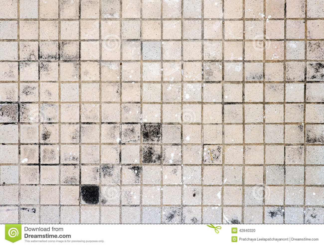 Brown Floor Tile Dirty Stock Photo Image 42840320