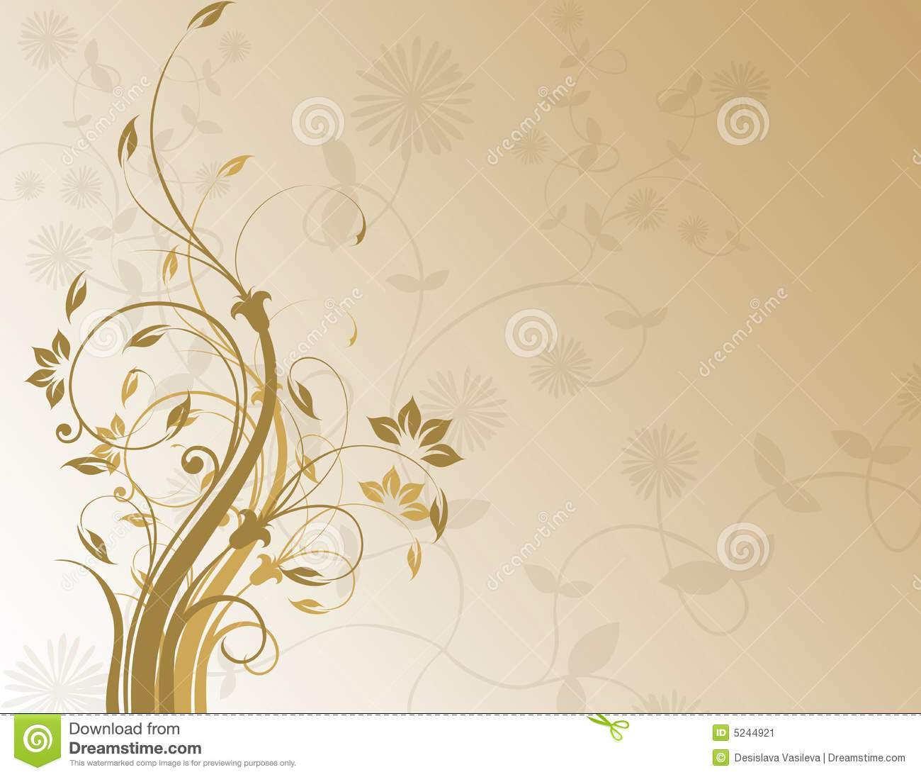 brown floral myspace layout brown floral background stock image image 5244921