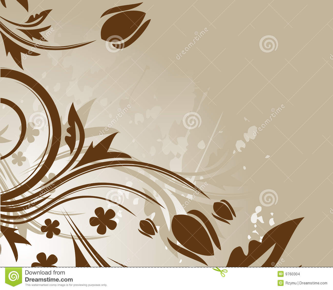 brown floral myspace layout brown floral background stock images image 9760304