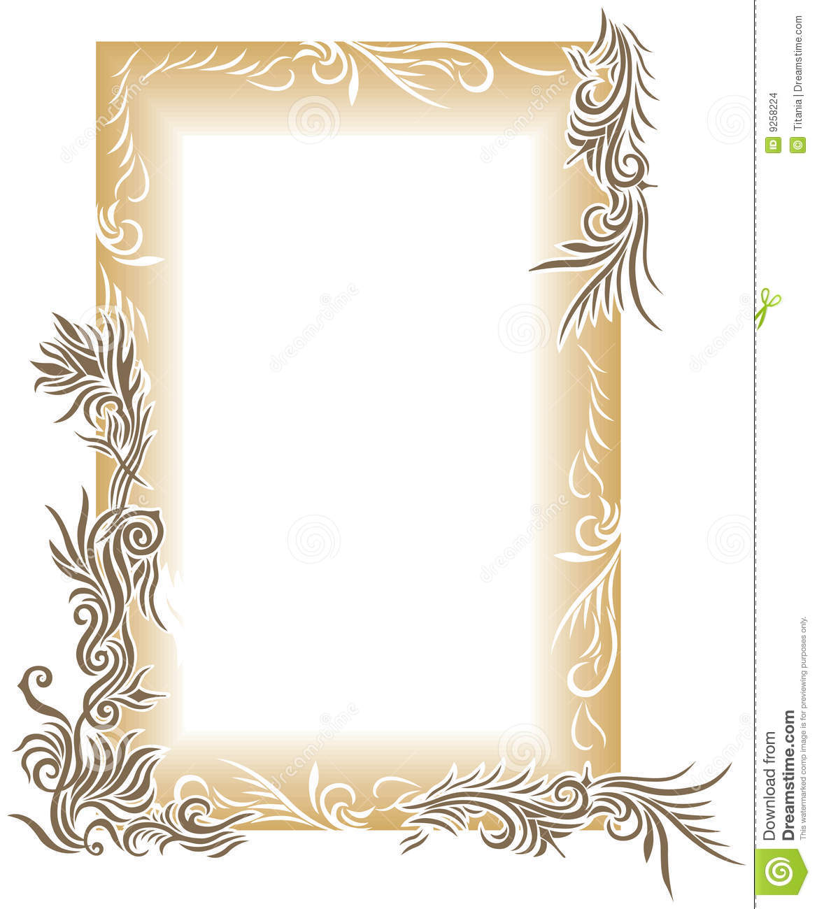 Brown Floral Border Stock Images Image 9258224