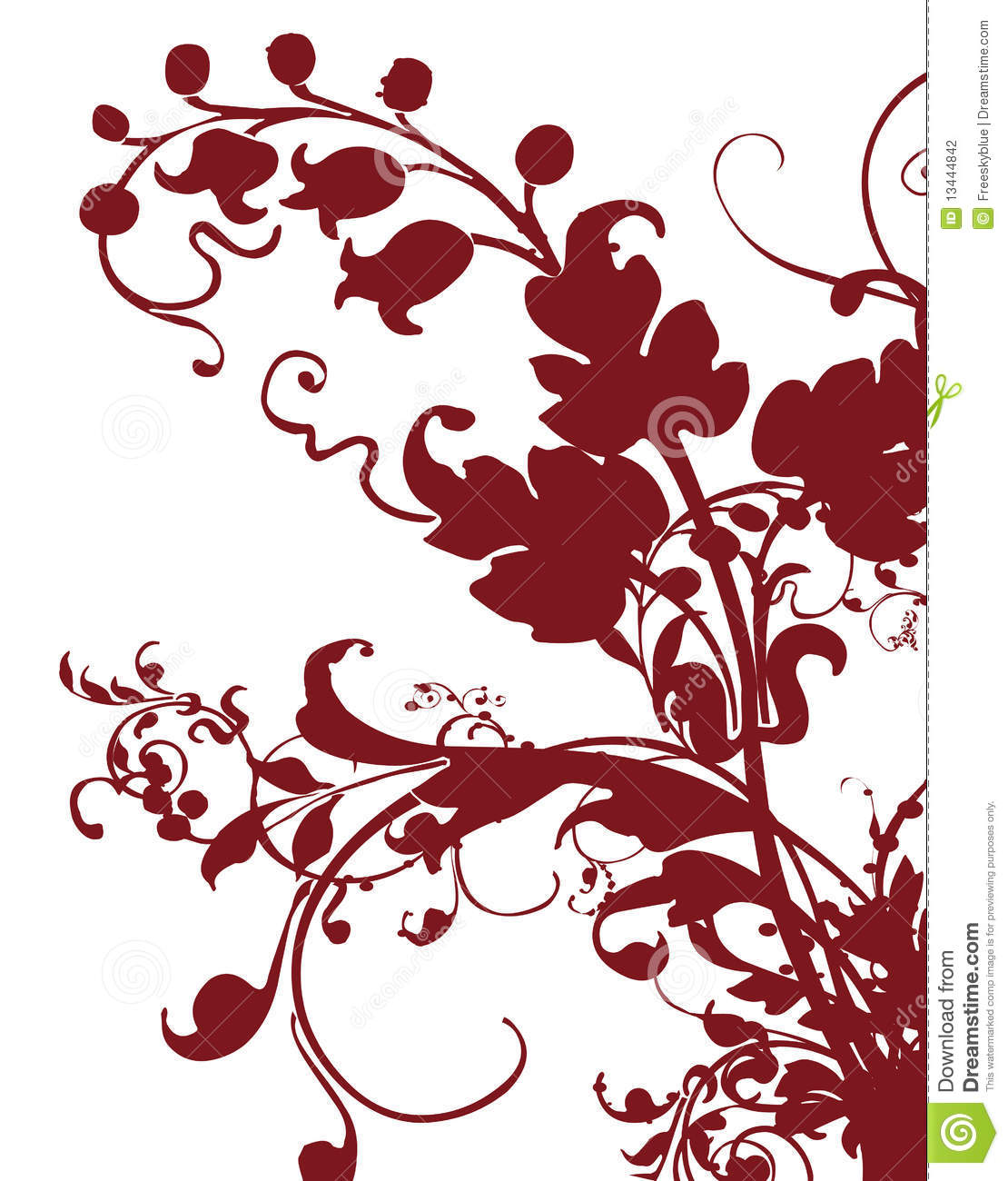 Brown Flower Pattern Silhouette Stock Photography - Image: 13444842
