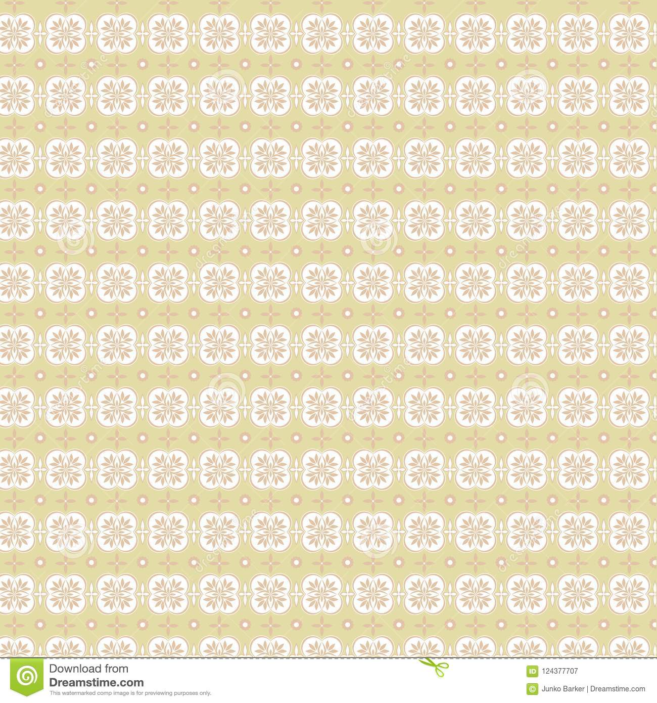 Brown Flower Repeat Pattern Antique Wallpaper Texture Stock