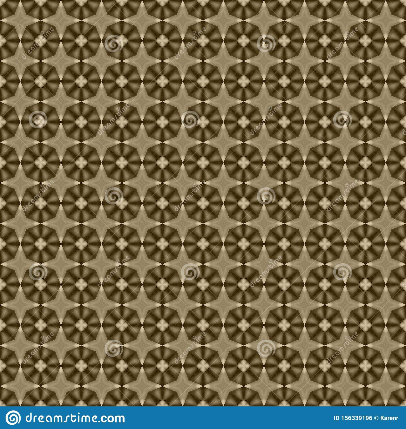 Brown geometric mosaic detailed seamless textured pattern background