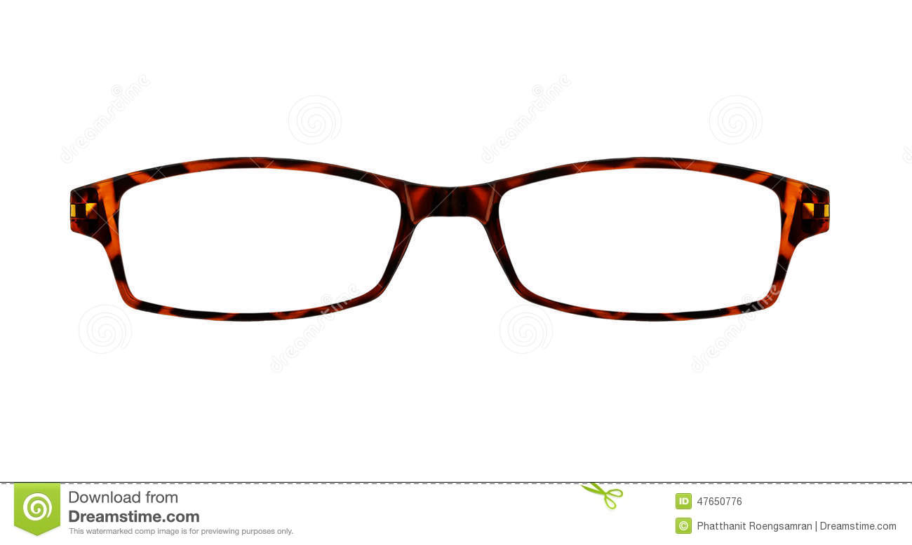 Brown Glasses Isolated On White With Clipping Paths For The Fram ...
