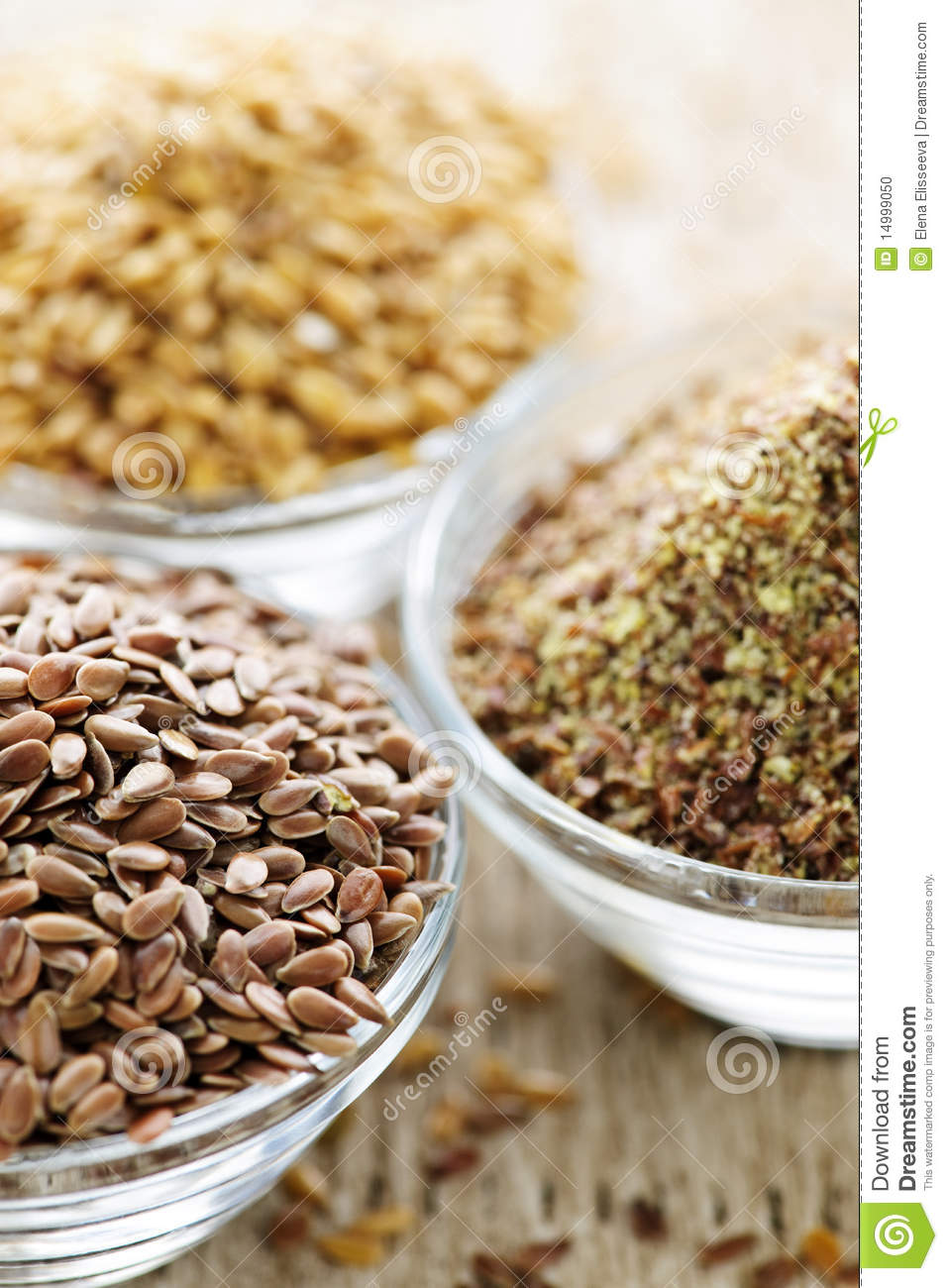 Brown or golden flax seed