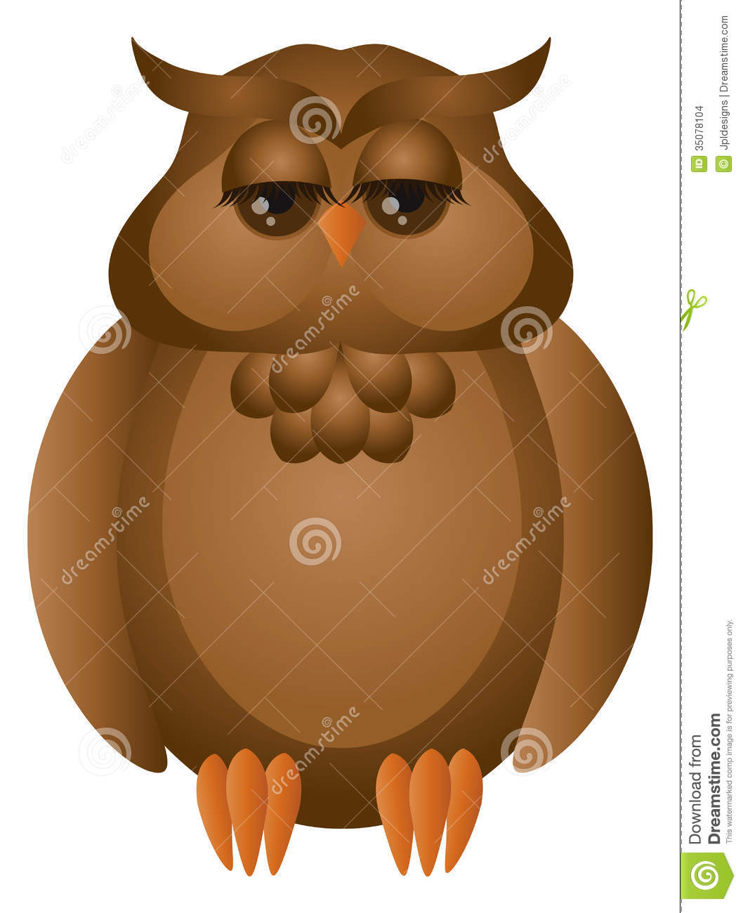 Brown Great Horned Owl Illustration Stock Images - Image ...