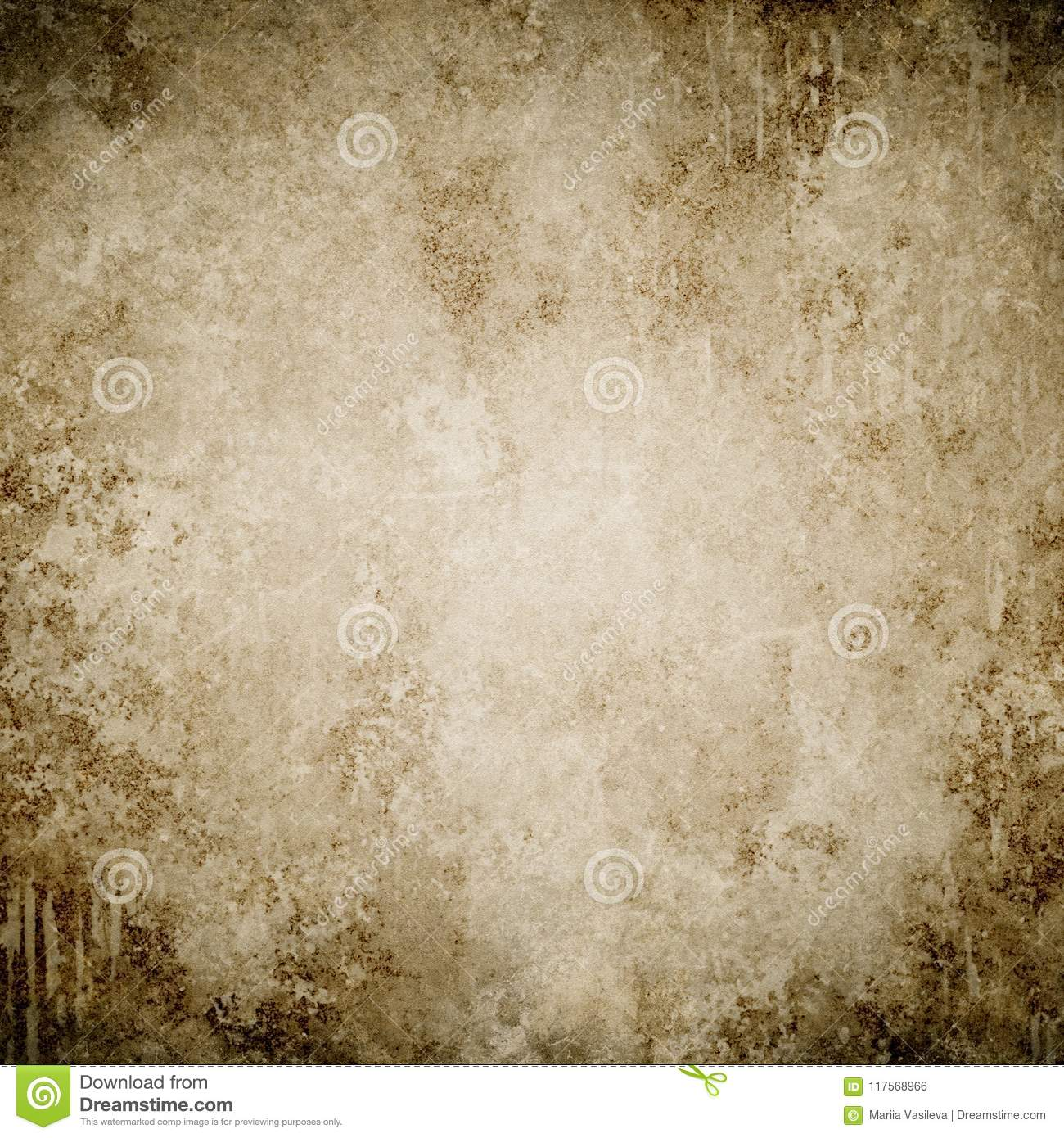 Brown grunge background, paper texture, frame, paint stains,stains, vintage