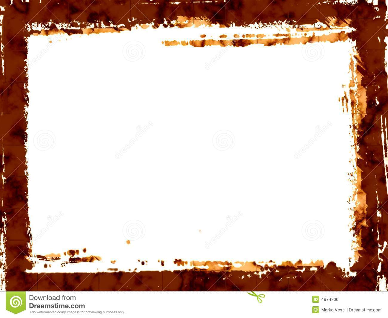 Brown Grunge Border Stock Photo - Image: 4974900