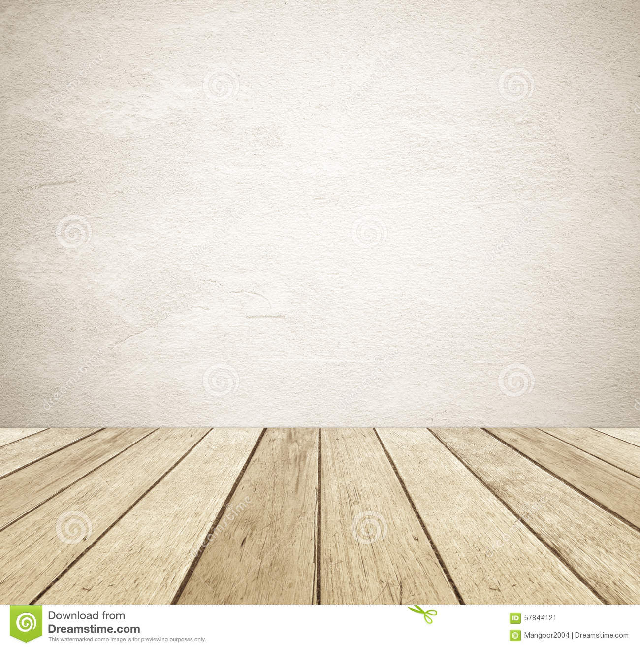 Floor Plan Design Template Brown Grunge Cement Wall And Perspective Vintage Wood