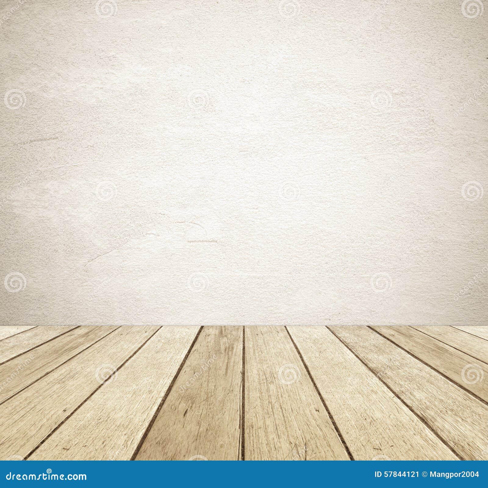Brown grunge cementu ścienny i perspektywiczny rocznika drewna tło