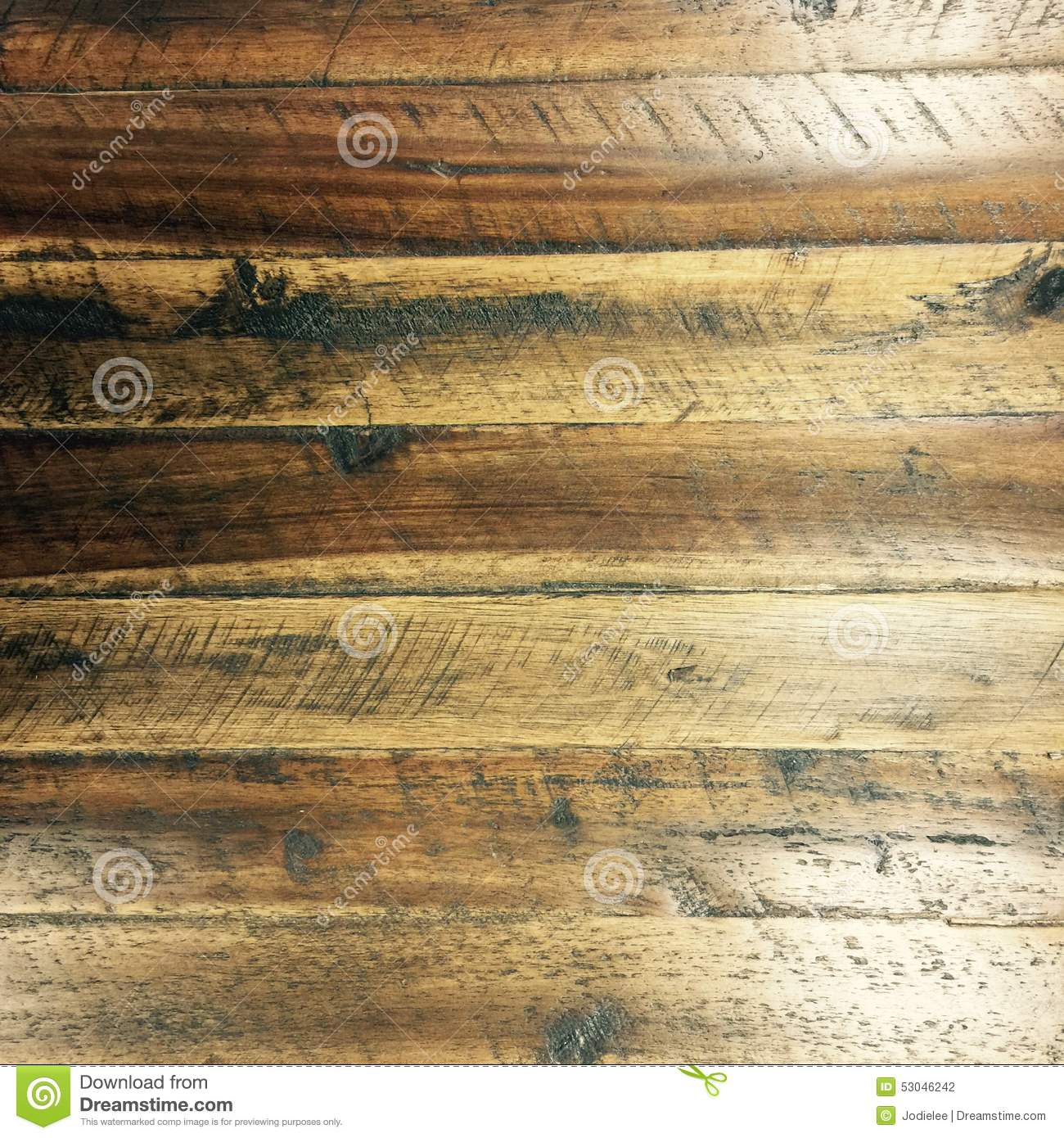 Brown Grungy Distressed Wooden Flooring Texture With White