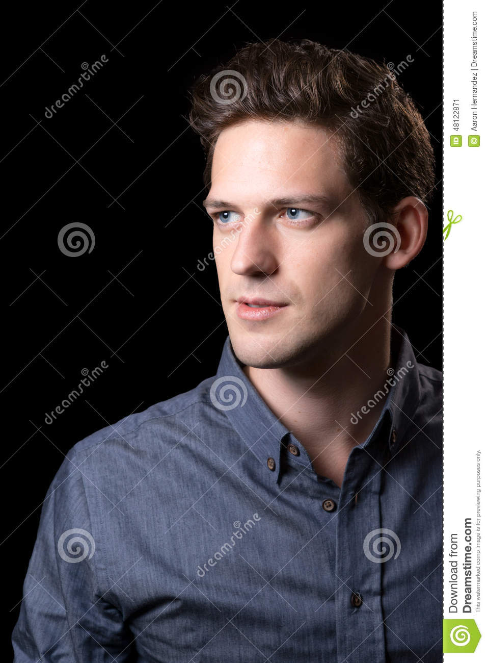 Brown Hair Blue Eyed Male Stock Image Image Of Tall 48122871
