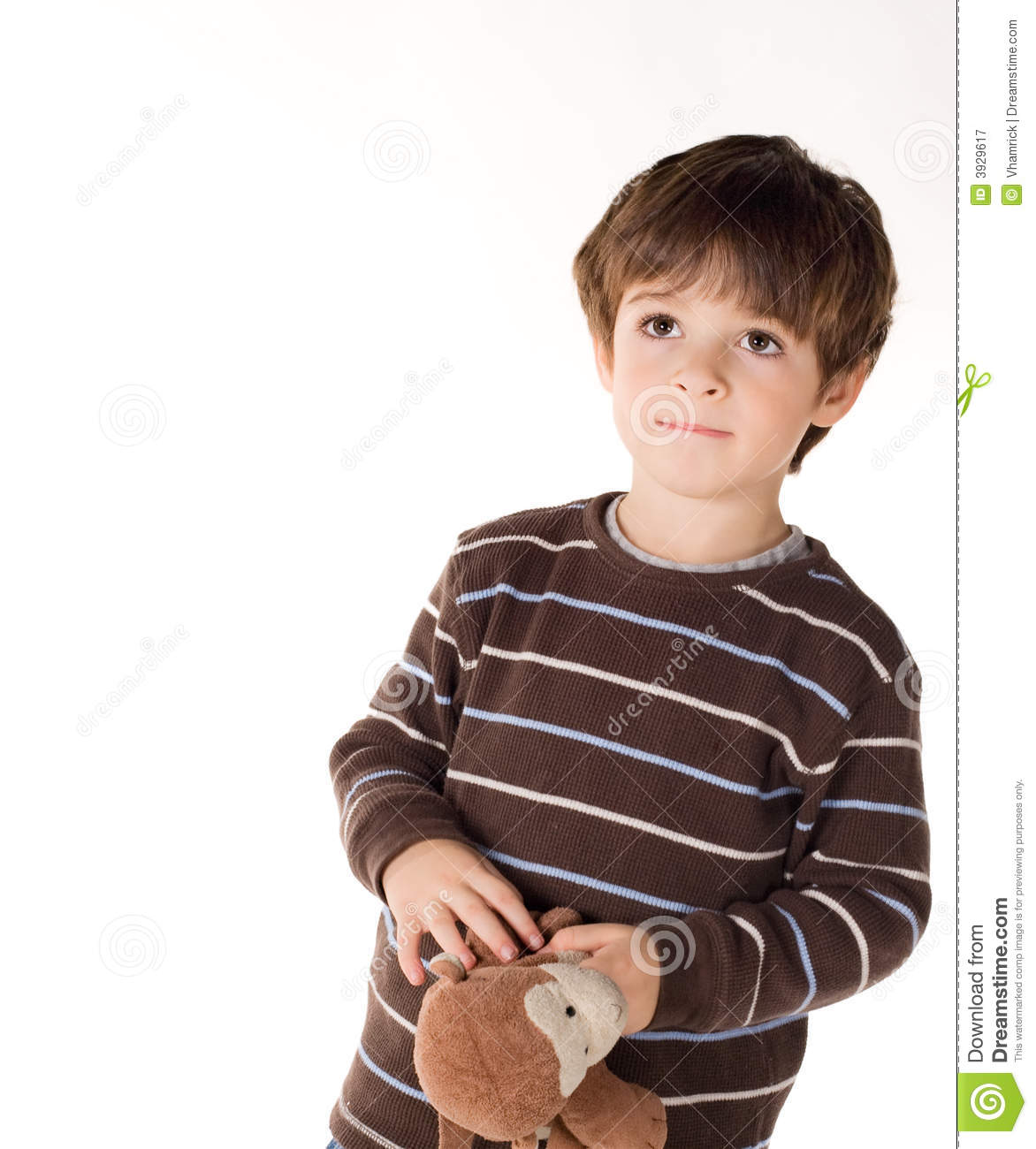 Toddler boy with brown hair and brown eyes