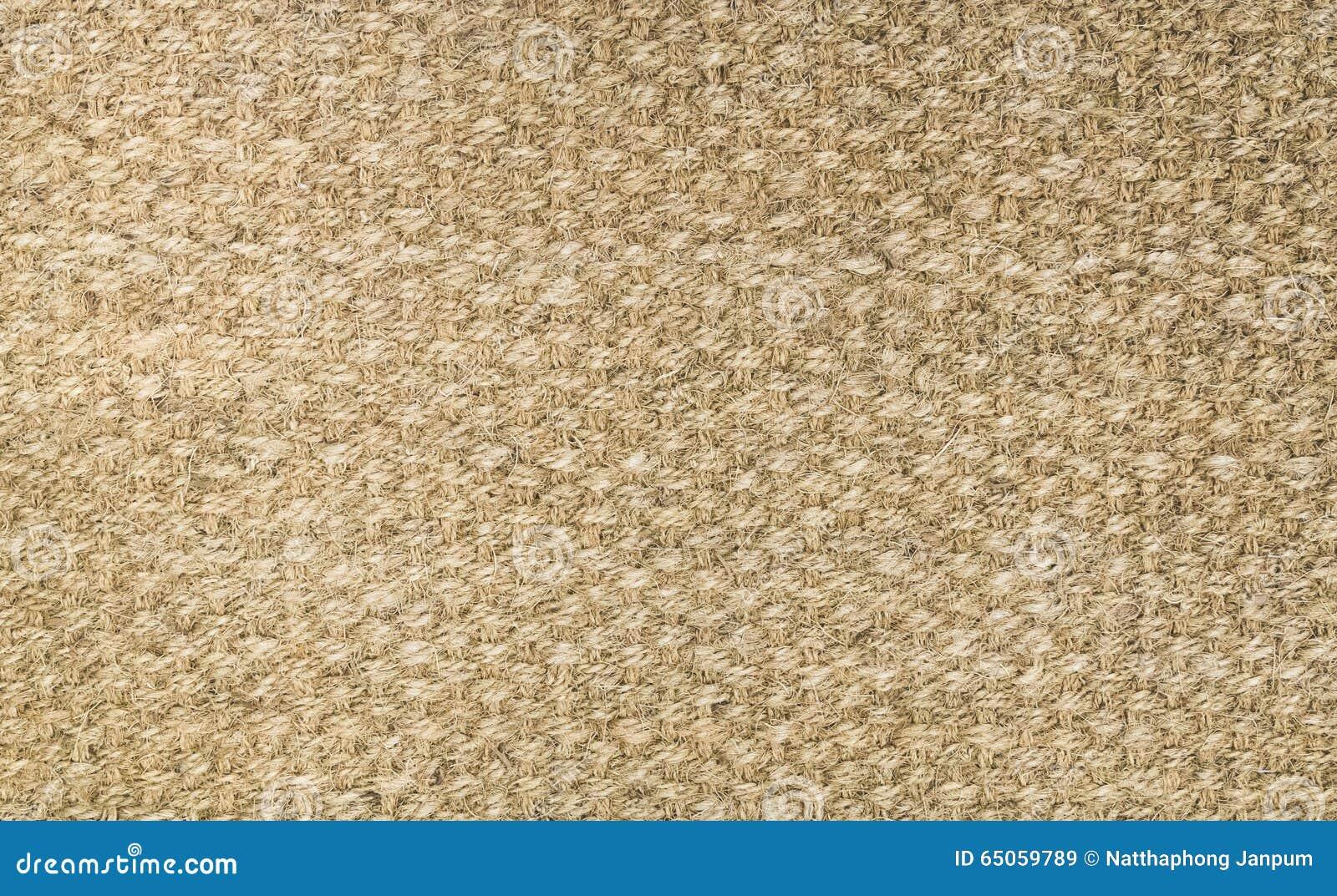 Brown Hanfteppich Wolldeckenbeschaffenheitshintergrund