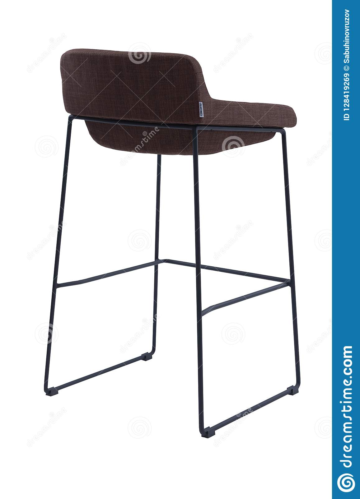 Fine Brown High Bar Stool Isolated On White Background Modern Squirreltailoven Fun Painted Chair Ideas Images Squirreltailovenorg