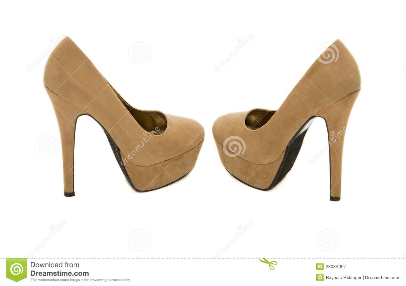 Brown High Heels Royalty Free Stock Photography - Image: 28084097