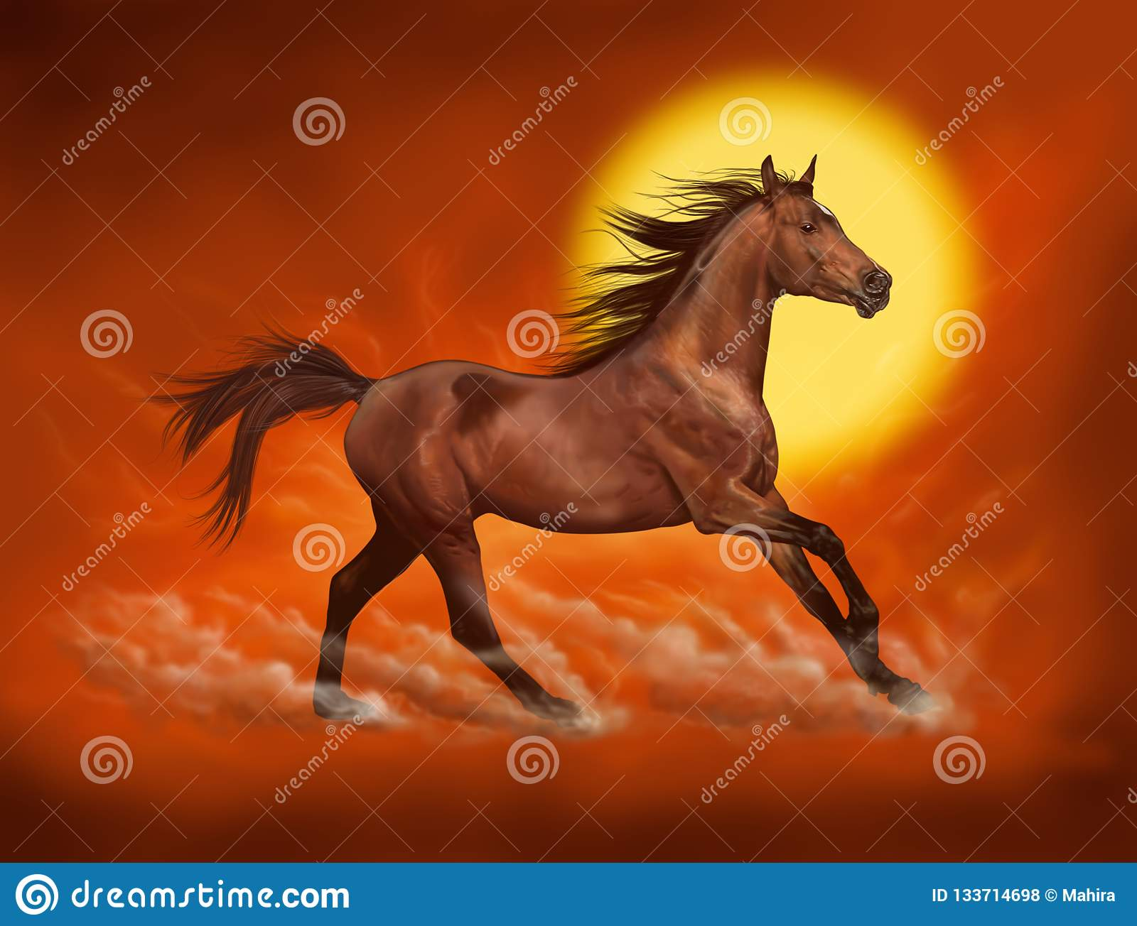 Red Running Horse Illustration Stock Illustrations 379 Red Running Horse Illustration Stock Illustrations Vectors Clipart Dreamstime