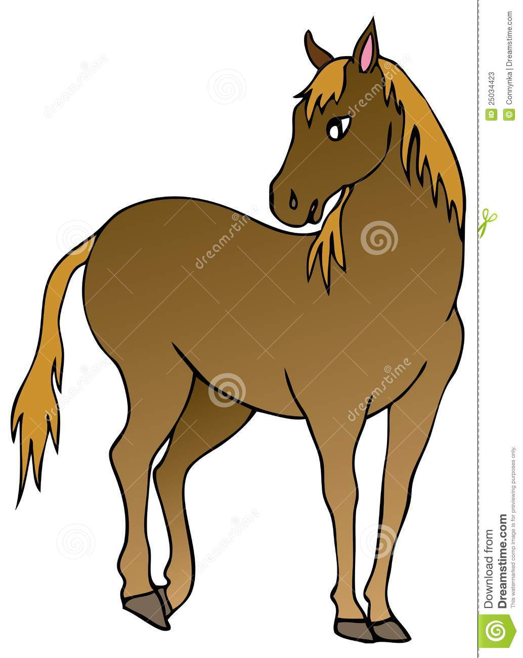 Brown Horse On White Background Stock Photos - Image: 25034423