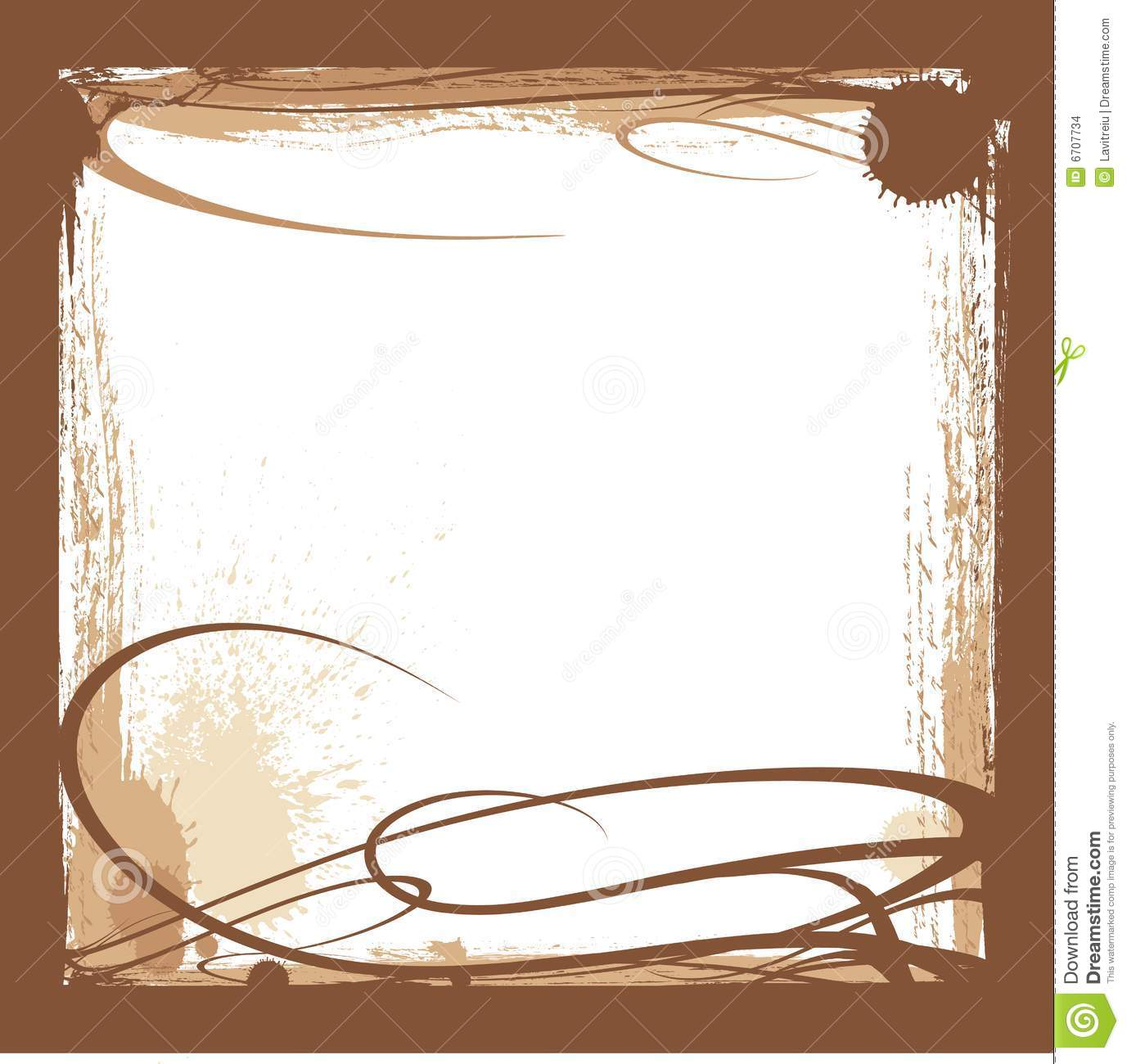 Brown Ink Border Stock Images - Image: 6707734