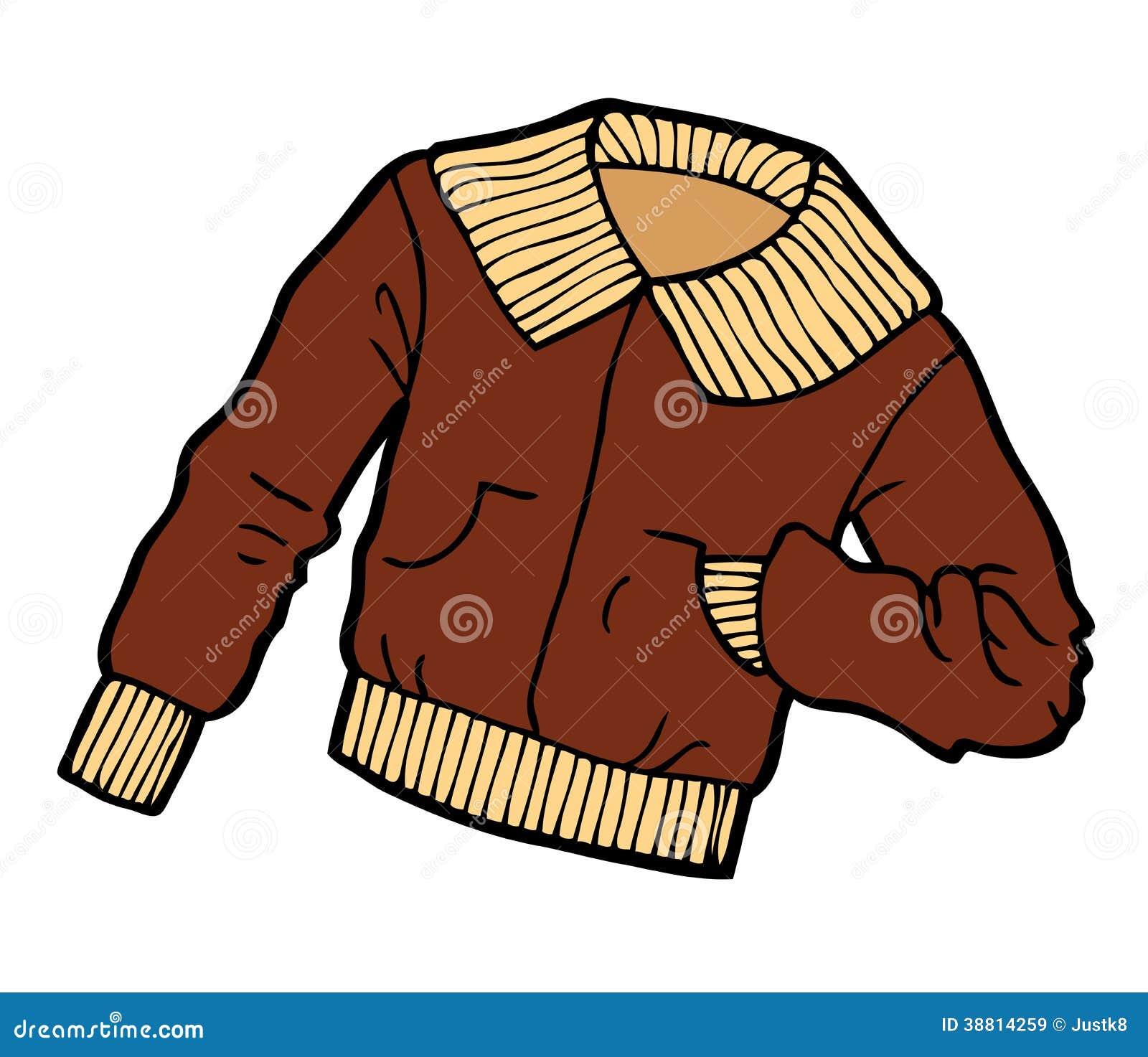 Brown Jacket Cartoon Stock Vector - Image: 38814259