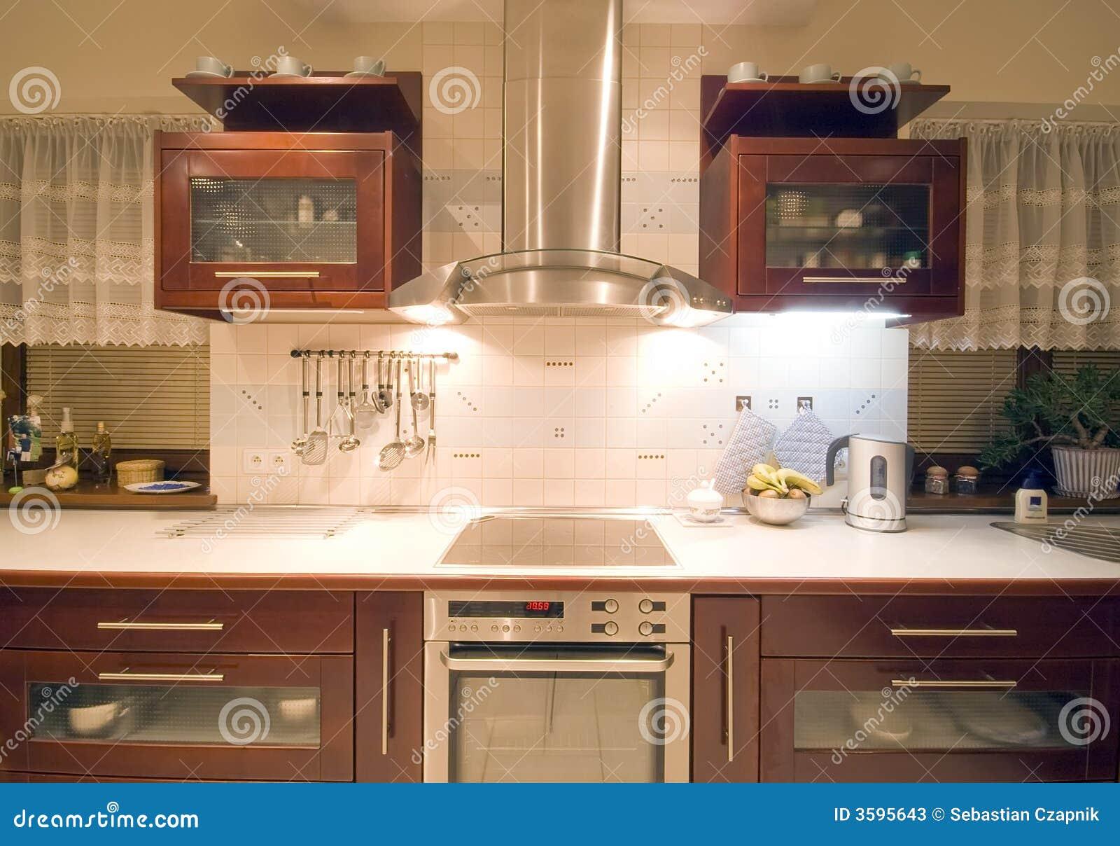 brown kitchen interior stock photos - image: 3595643