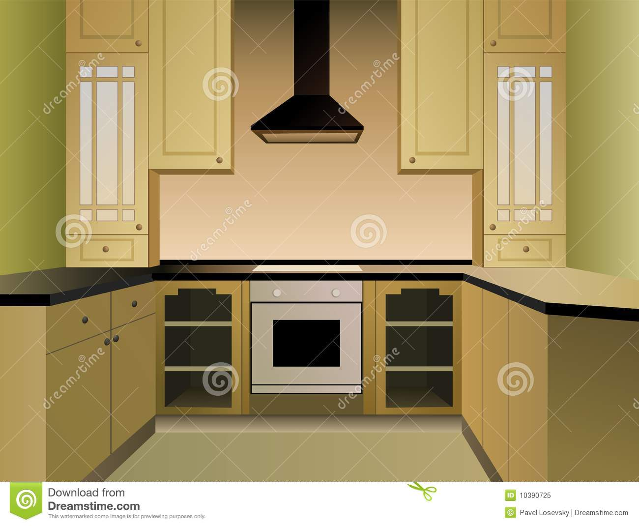 Brown Kitchen Vector Royalty Free Stock Photo Image 10390725