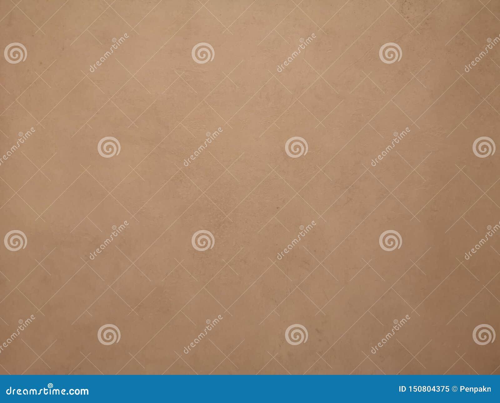 Brown koloru farba na cement ściany powierzchni tekstury materiału betonie