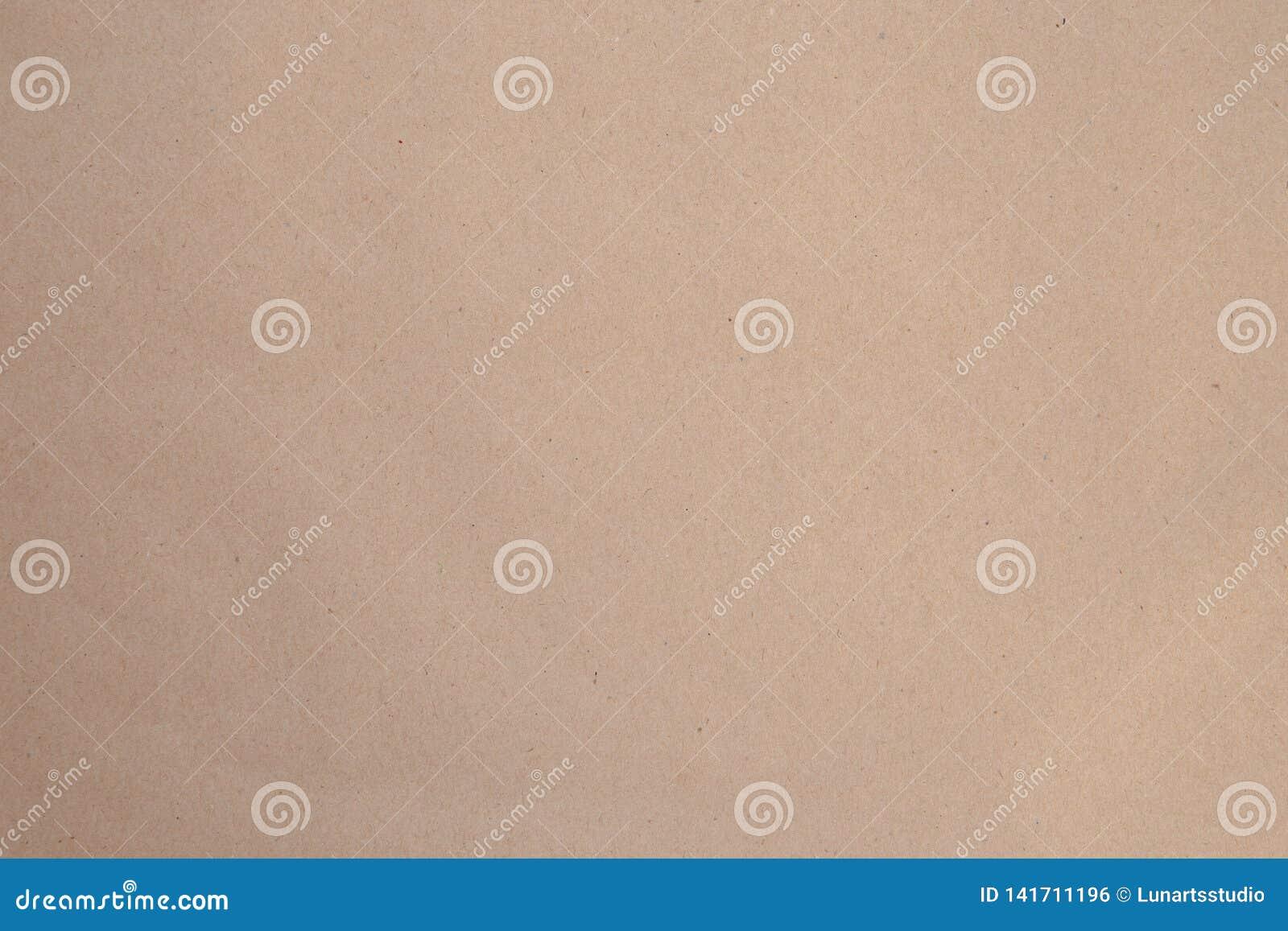 Brown Kraft Paper Textured Background Top View