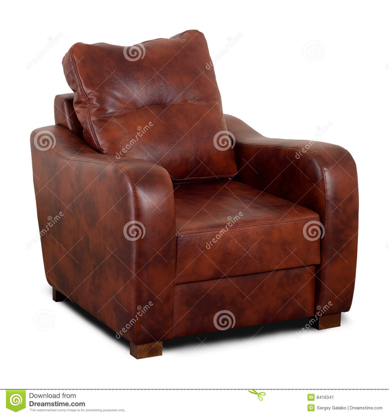 brown leather sofa isolated - photo #25