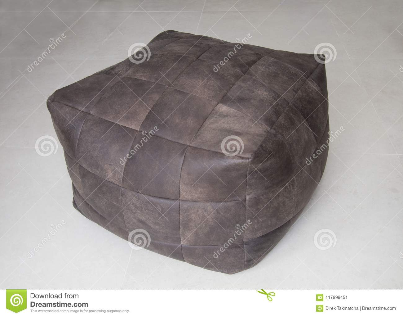 Enjoyable Brown Leather Cube Chair Stock Image Image Of Seat 117999451 Evergreenethics Interior Chair Design Evergreenethicsorg