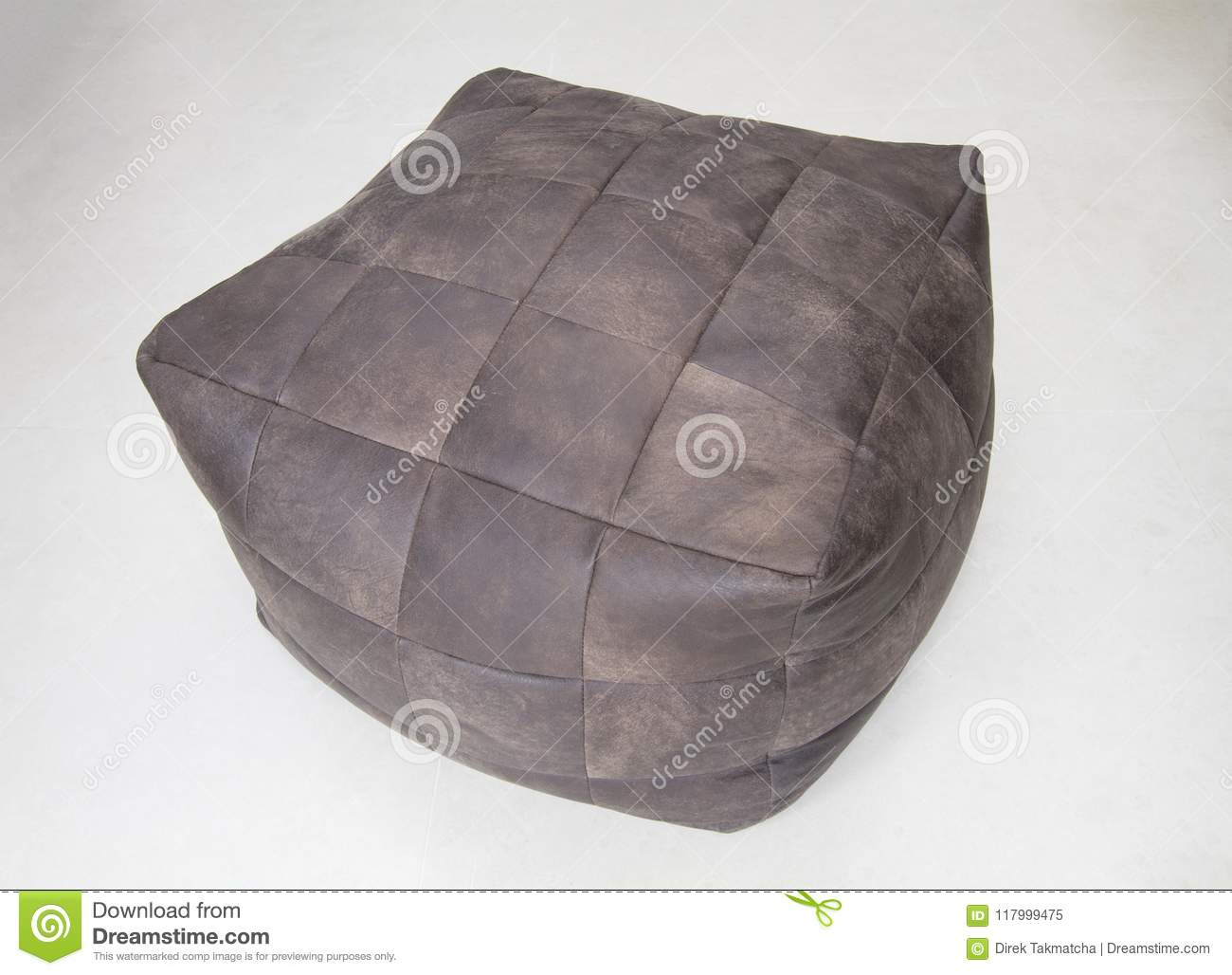 Download Brown leather cube chair stock image. Image of furniture - 117999475 & Brown leather cube chair stock image. Image of furniture - 117999475