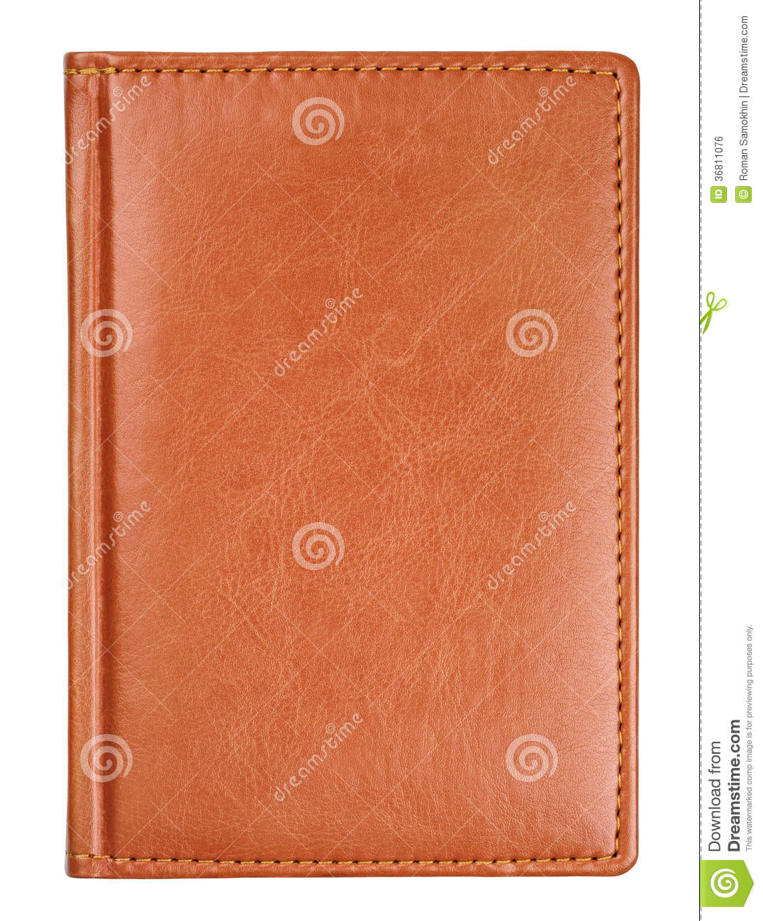School Bookcover Design: Brown Leather Diary Book Cover Royalty Free Stock Image