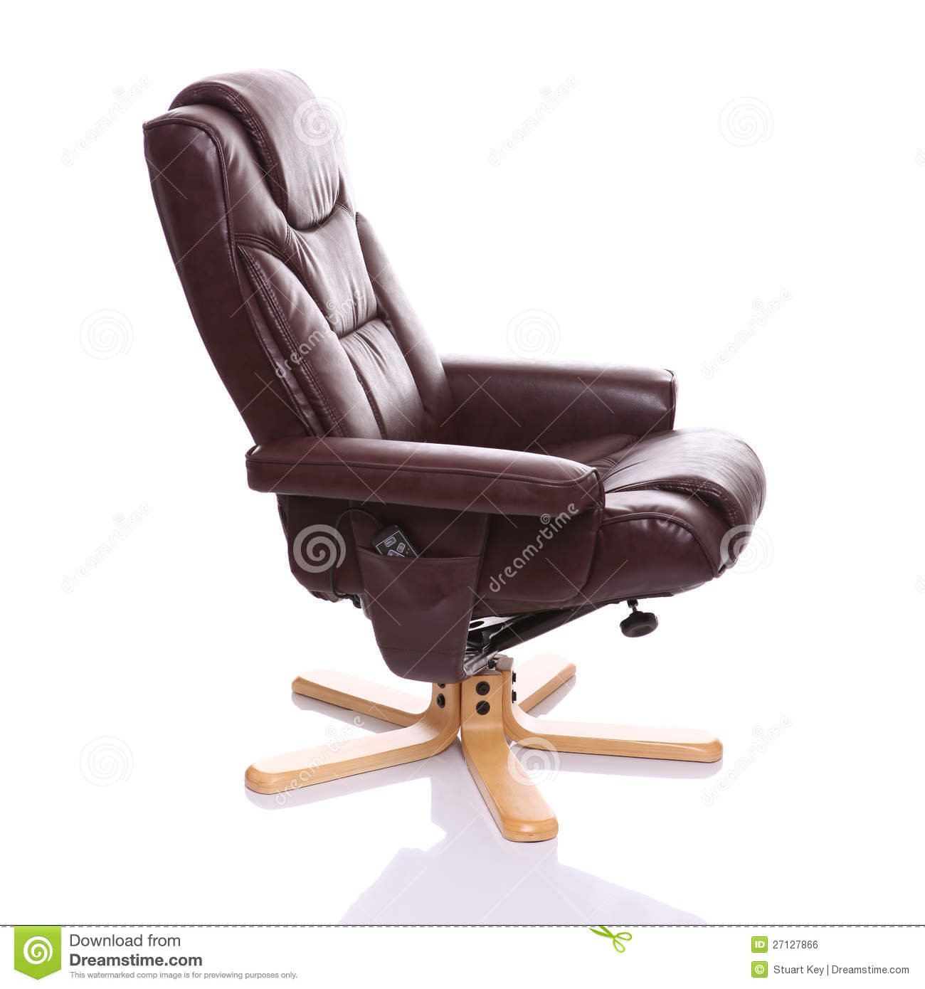 brown chair heated isolated leather legs pads recliner ...  sc 1 st  Dreamstime.com & Brown Leather Recliner Chair Royalty Free Stock Image - Image ... islam-shia.org