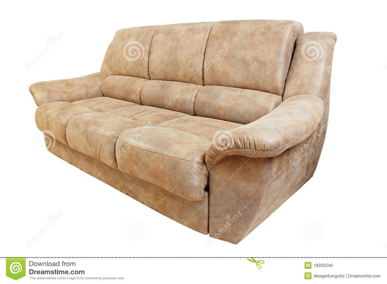 brown leather sofa isolated - photo #15