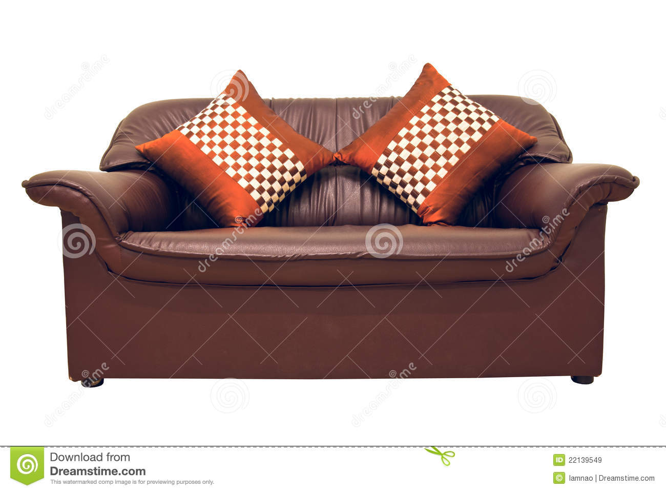 brown leather sofa isolated - photo #19
