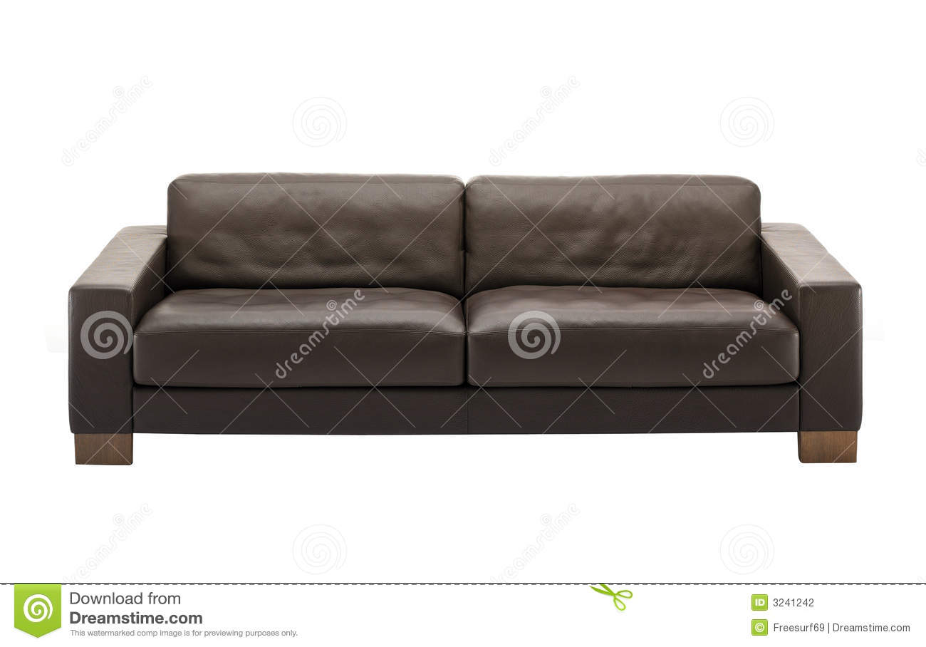 brown leather sofa isolated - photo #10