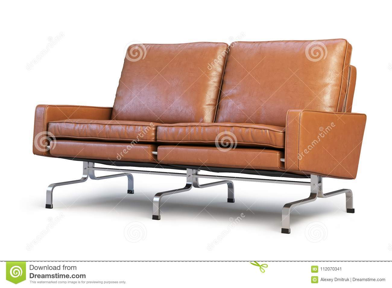 Loveseat Sofa 3d Render