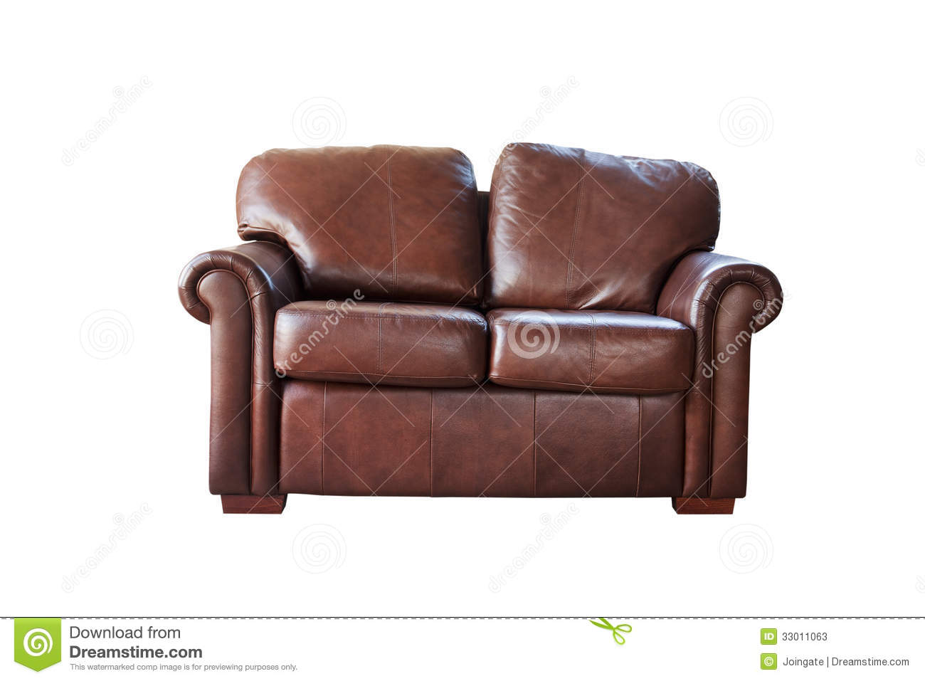 brown leather sofa isolated - photo #4