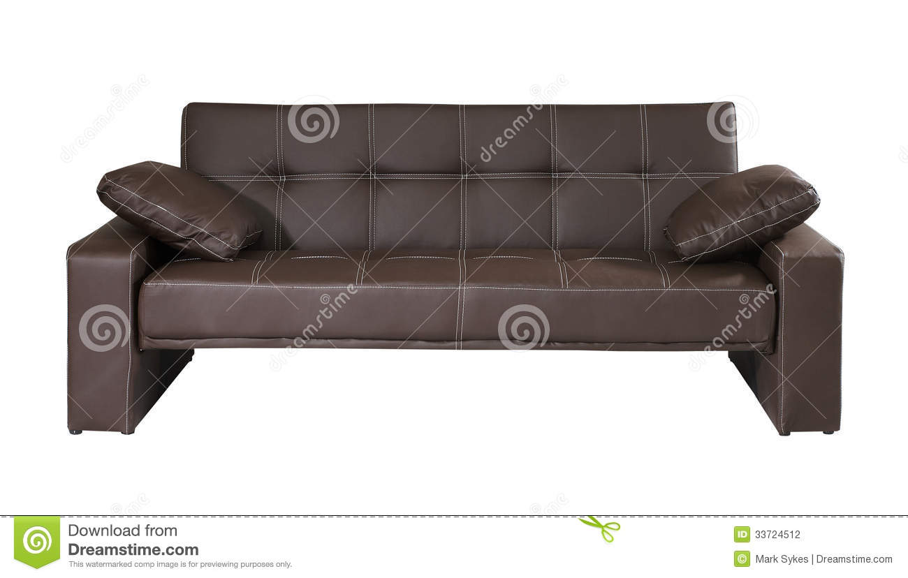 brown leather sofa isolated - photo #6