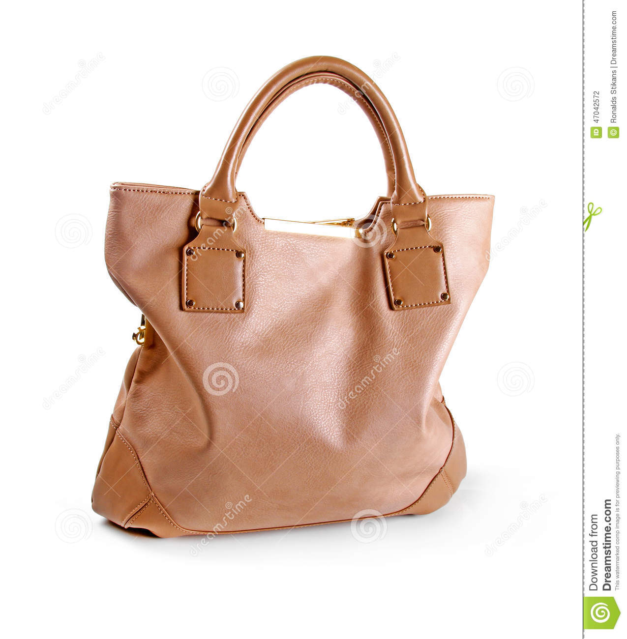 6b20272bed Brown Leather Women Bag Isolated On White Stock Photo - Image of ...