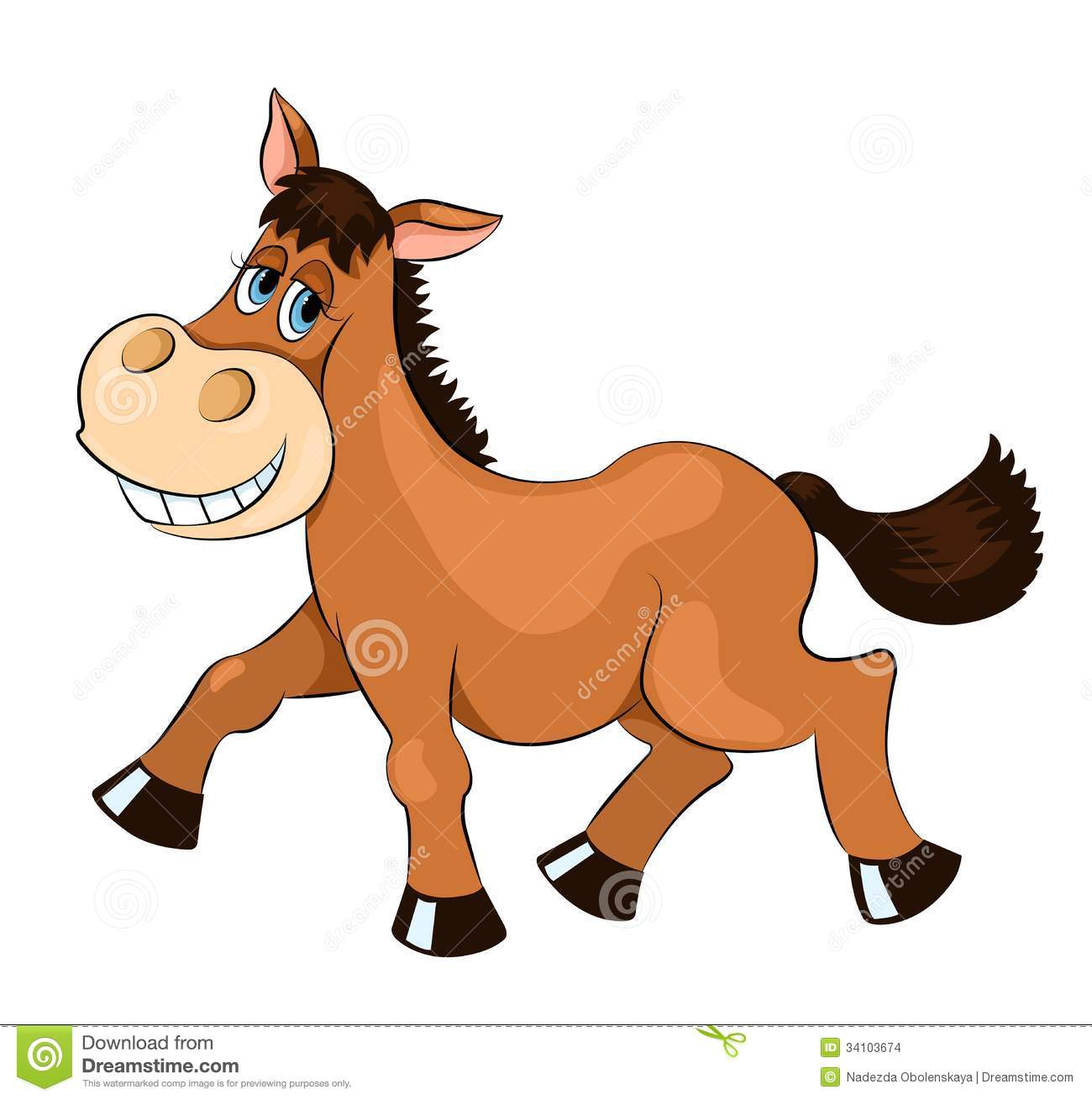 Brown Mad Horse Stock Images Image 34103674
