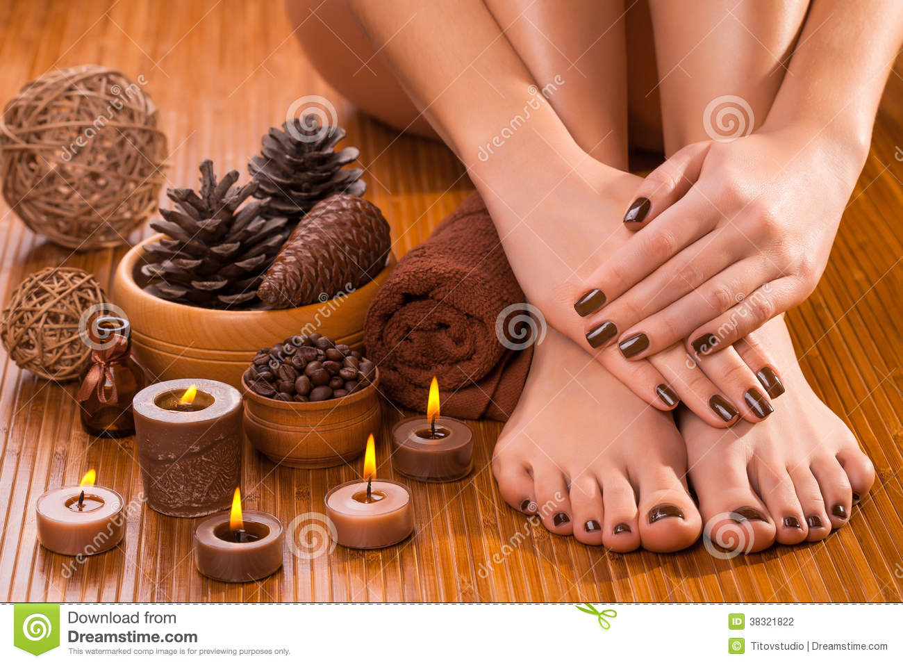 Manicure And Pedicure Stock Photos and Images