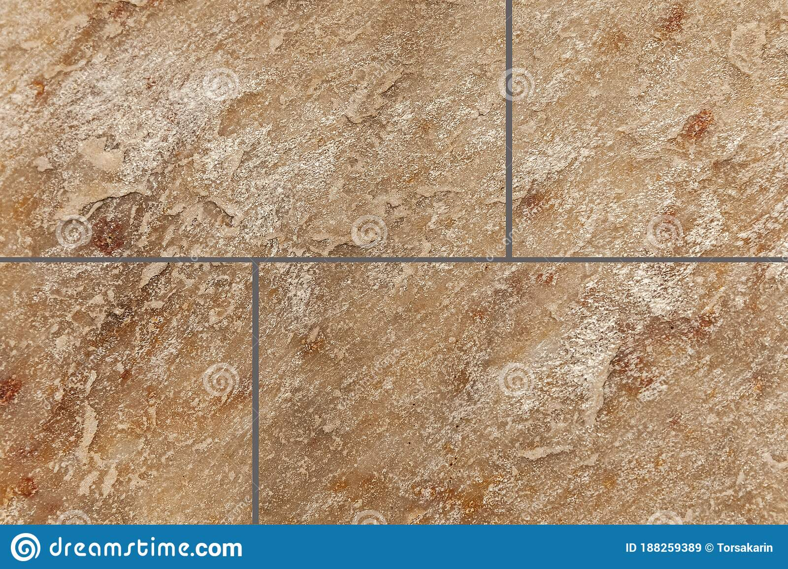 Brown Marble Stone Tile Floor Texture Stock Image Image Of Detail Background 188259389
