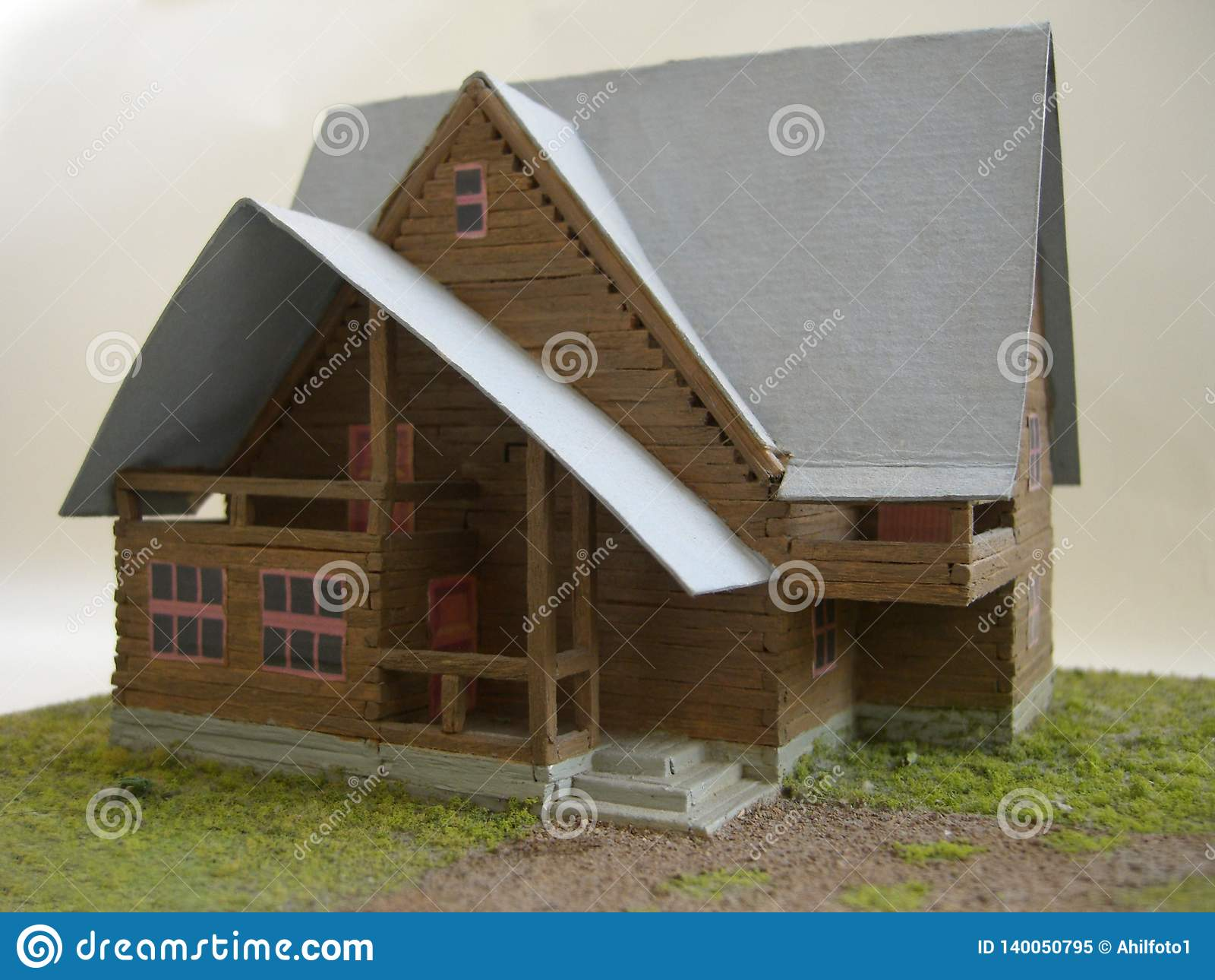 Brown-Modell des Landhauses vom Match