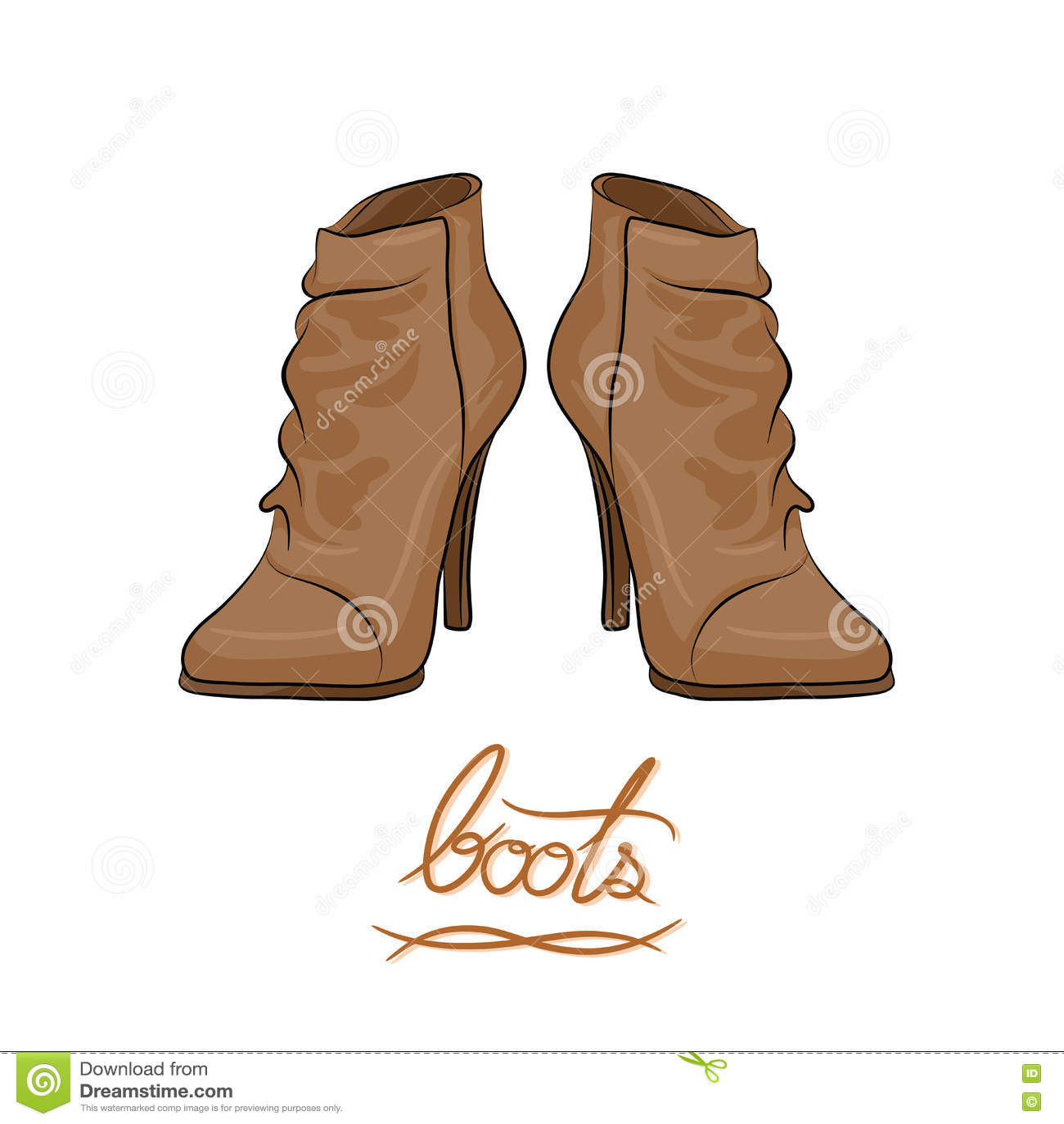 Boots fashion pic boots clip art - Boots Brown Cartoon Fashion