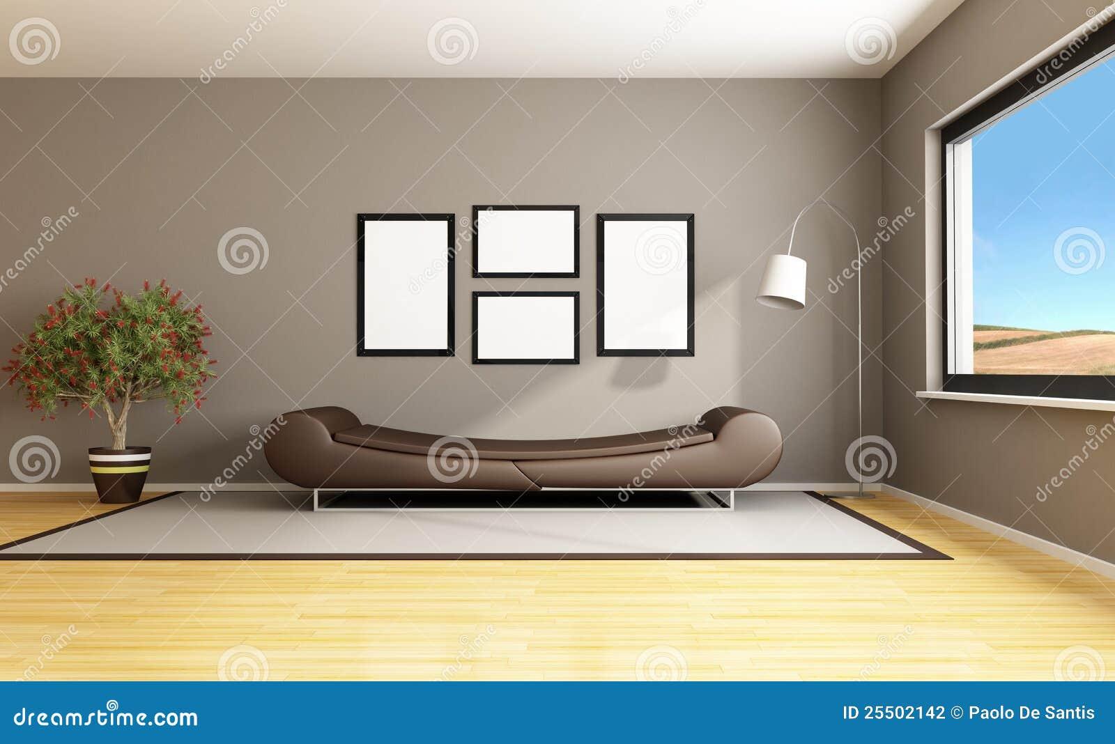 Brown Modern Livingroom Stock PhotographyImage 25502142