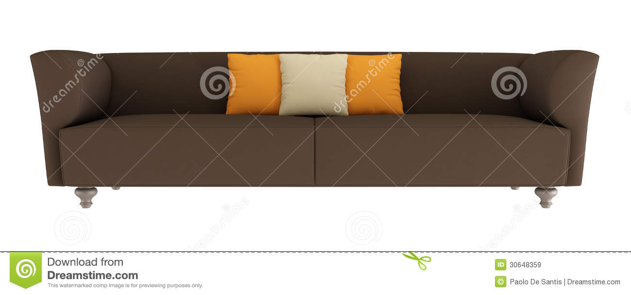 brown leather sofa isolated - photo #14