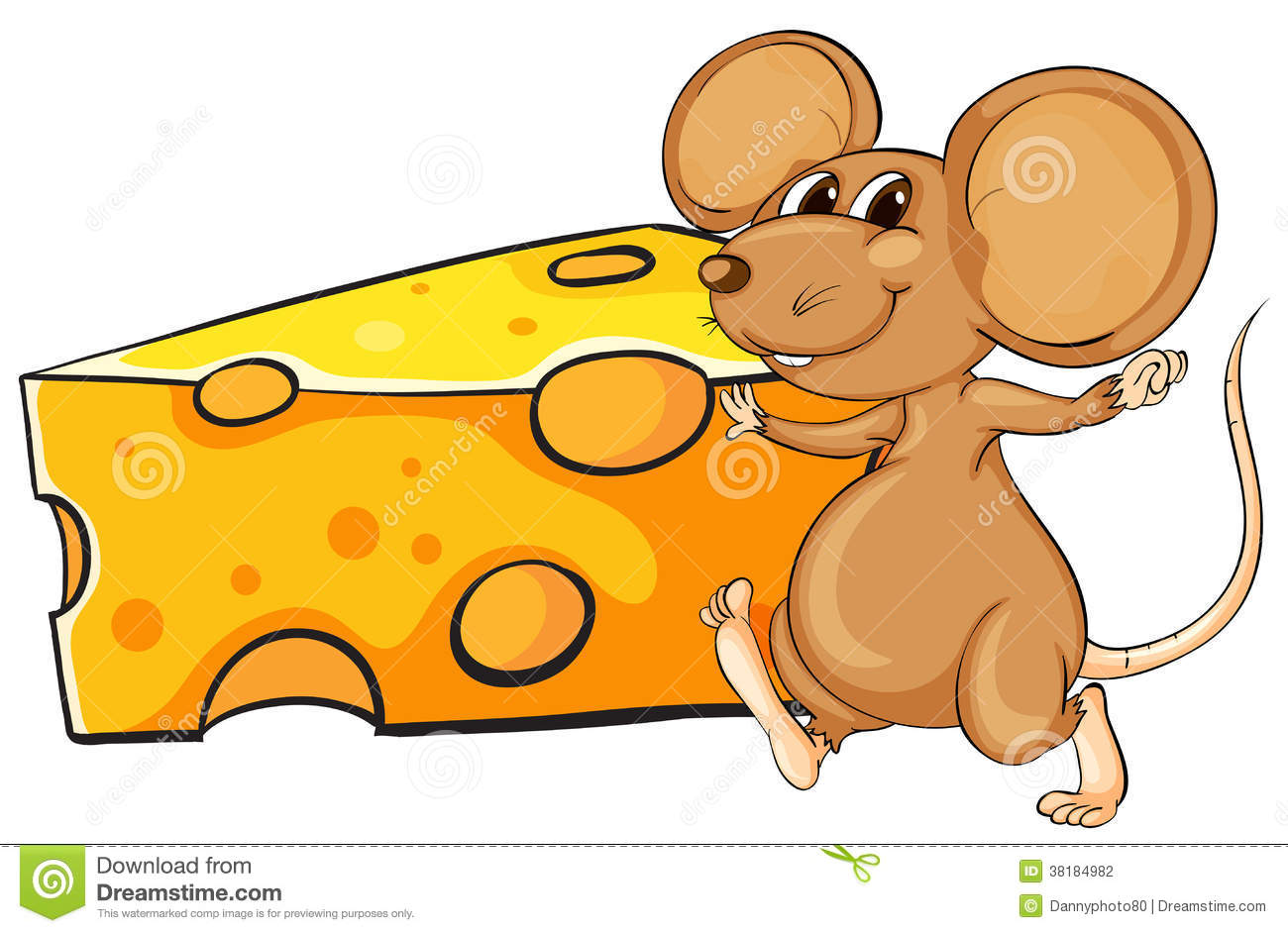 clipart mouse eating cheese - photo #35
