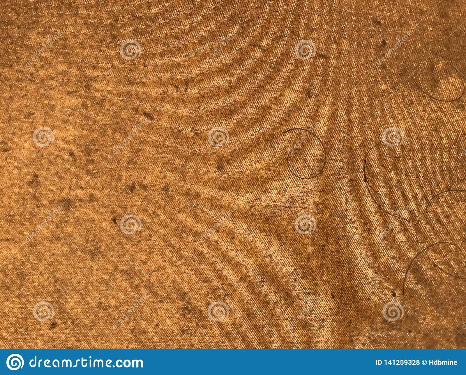 Brown mulberry paper with many lines and dots
